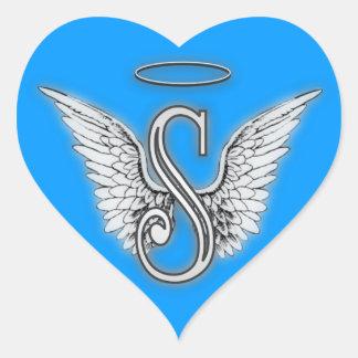Adesivo Coração O anjo do coração voa o monograma