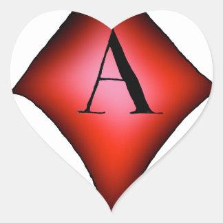 Adesivo Coração O ás de diamantes por Tony Fernandes