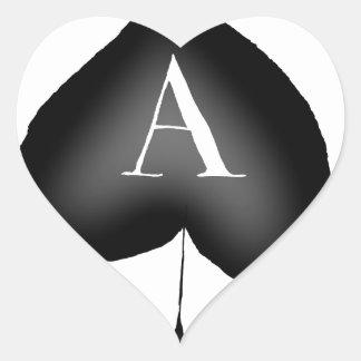 Adesivo Coração O ás de espada por Tony Fernandes