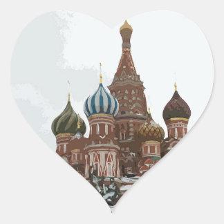 Adesivo Coração O cathedral_russo da manjericão do santo