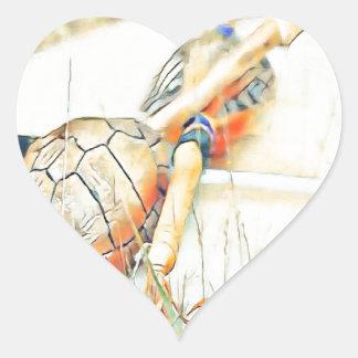 Adesivo Coração O clã da tartaruga chocalha e rufa