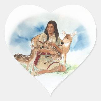 Adesivo Coração O clã dos cervos sere de mãe com suas jovens