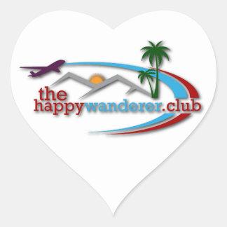 Adesivo Coração O clube feliz do andarilho