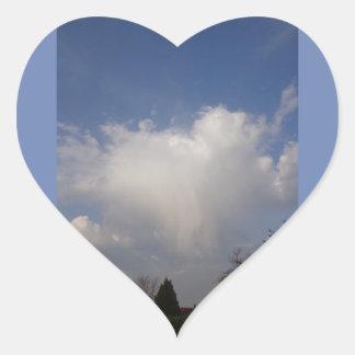 Adesivo Coração O cumprimento do anjo na manhã