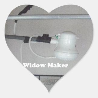 Adesivo Coração o fabricante da viúva