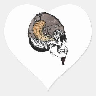 Adesivo Coração O guerreiro Horned