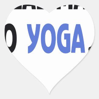 Adesivo Coração o homem real faz a ioga