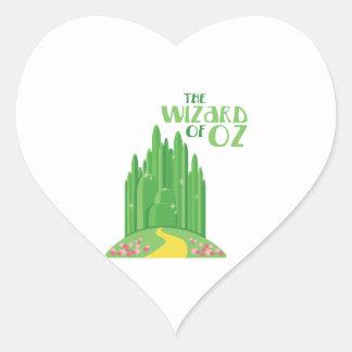 Adesivo Coração O mágico de Oz