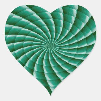Adesivo Coração O MODELO verde de Chakra da roda adiciona o IMG do