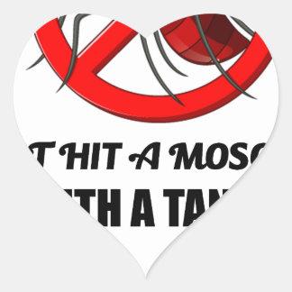 Adesivo Coração o mosquito não o bate com um tanque