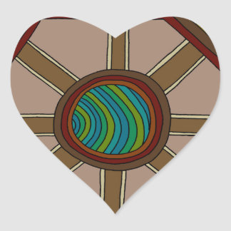 Adesivo Coração O motor do mundo