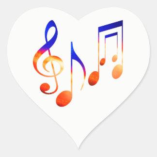Adesivo Coração O MusicAL de dança assina a PARTITURA dos SÍMBOLOS
