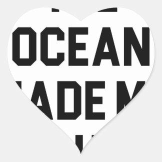 Adesivo Coração O oceano fez-me salgado