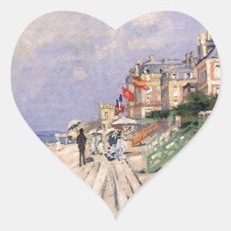 Adesivo Coração O passeio à beira mar em Trouville Claude Monet