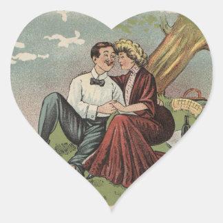 Adesivo Coração O piquenique do casal