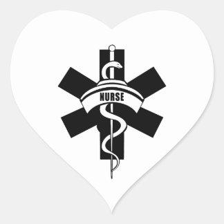 Adesivo Coração O RN nutre o símbolo médico