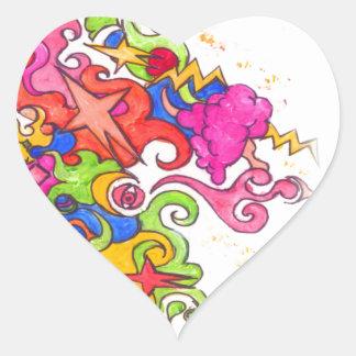 Adesivo Coração O unicórnio Fart