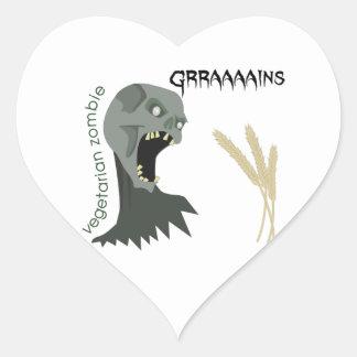 Adesivo Coração O zombi do vegetariano quer Graaaains!