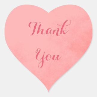 Adesivo Coração Obrigado cor-de-rosa você