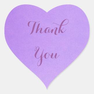 Adesivo Coração Obrigado da lavanda você