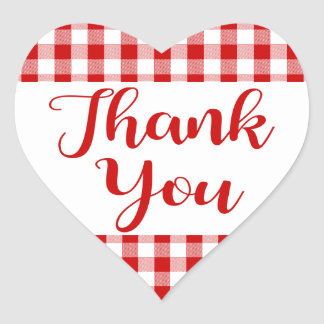Adesivo Coração Obrigado do guingão você coração da xadrez da