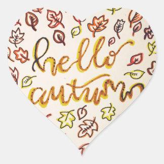 Adesivo Coração Olá! outono