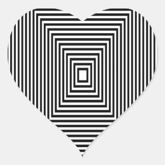 Adesivo Coração Olhar de túnel