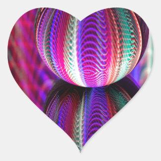 Adesivo Coração Ondas na bola de cristal