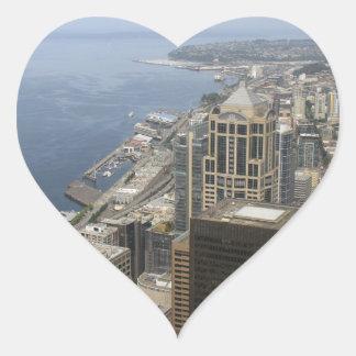 Adesivo Coração Opinião de Arial de Seattle
