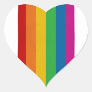 Adesivo Coração Orgulho de LGBT