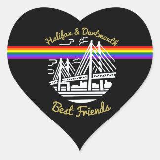 Adesivo Coração Orgulho dos melhores amigos de Nova Escócia