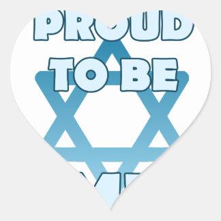 Adesivo Coração Orgulhoso ser judaico