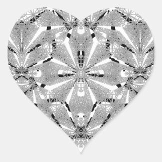 Adesivo Coração Ornamentado oriental moderno