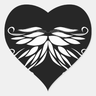 Adesivo Coração Ornamento brancos pretos do Nordic de Sibéria