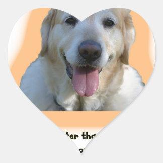 Adesivo Coração Os cães são melhores do que seres humanos