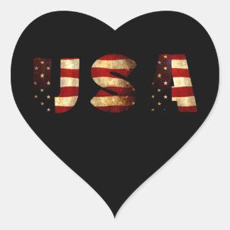 Adesivo Coração Os Estados Unidos da América