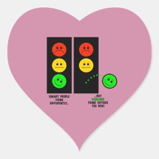 Adesivo Coração Os gênios temperamentais do sinal de trânsito