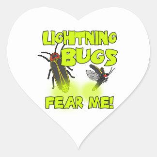 Adesivo Coração Os insetos de relâmpago temem-me