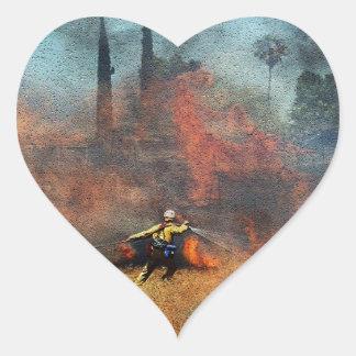Adesivo Coração Os sapadores-bombeiros são nossos heróis