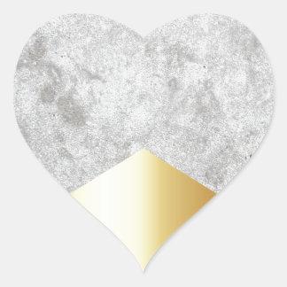 Adesivo Coração Ouro concreto #372 da seta