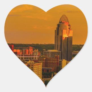 Adesivo Coração Ouro de Cincinnati