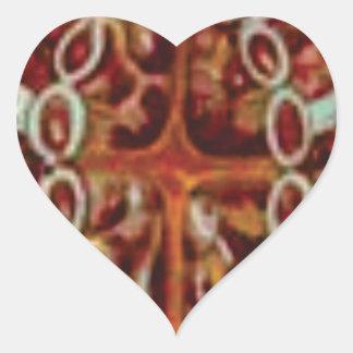 Adesivo Coração oval das figuras e das formas