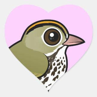 Adesivo Coração Ovenbird de Birdorable