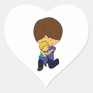Adesivo Coração Pai & filho Chibis