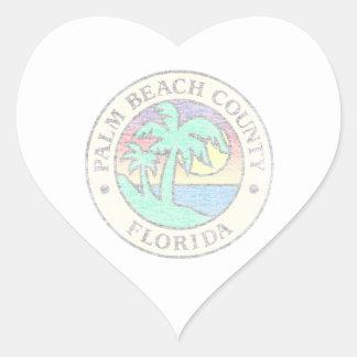 Adesivo Coração Palm Beach County