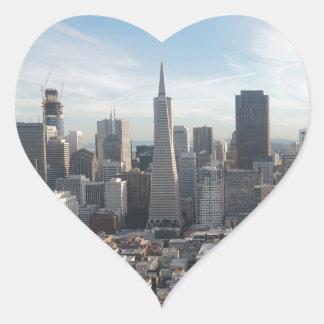 Adesivo Coração Panorama da skyline de San Francisco