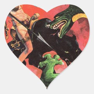 Adesivo Coração Pantera contra o dinossauro