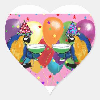 Adesivo Coração Papagaios do partido