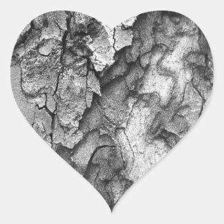 Adesivo Coração Para o amor da natureza - latido do preto & do