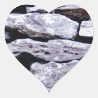 Adesivo Coração parede empilhada da rocha